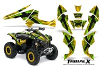 Can-Am-Renegade-800-CreatorX-Graphics-Kit-TribalX-Green-Yellow