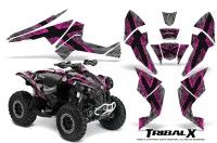 Can-Am-Renegade-800-CreatorX-Graphics-Kit-TribalX-Pink-Silver