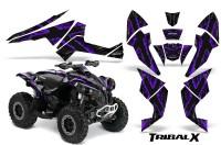 Can-Am-Renegade-800-CreatorX-Graphics-Kit-TribalX-Purple-Black