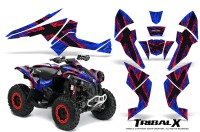 Can-Am-Renegade-800-CreatorX-Graphics-Kit-TribalX-Red-Blue