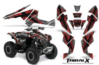 Can-Am-Renegade-800-CreatorX-Graphics-Kit-TribalX-Red-Silver