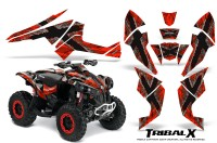 Can-Am-Renegade-800-CreatorX-Graphics-Kit-TribalX-Silver-Red