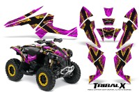 Can-Am-Renegade-800-CreatorX-Graphics-Kit-TribalX-Yellow-Pink
