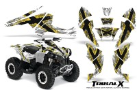 Can-Am-Renegade-800-CreatorX-Graphics-Kit-TribalX-Yellow-White