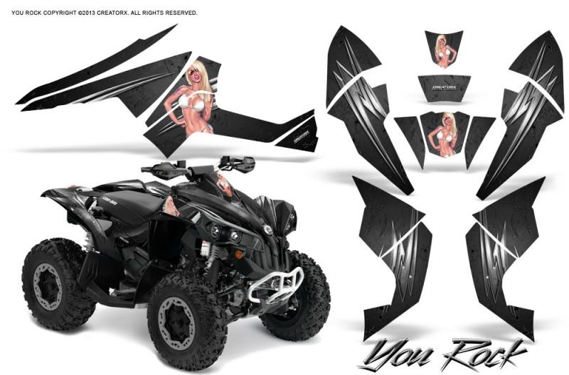 Can-Am-Renegade-800-CreatorX-Graphics-Kit-You-Rock-Black