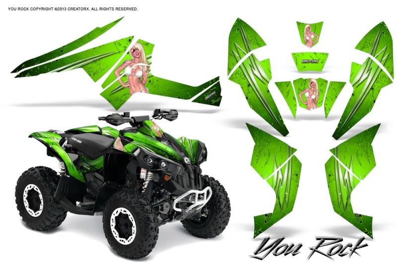 Can-Am-Renegade-800-CreatorX-Graphics-Kit-You-Rock-Green