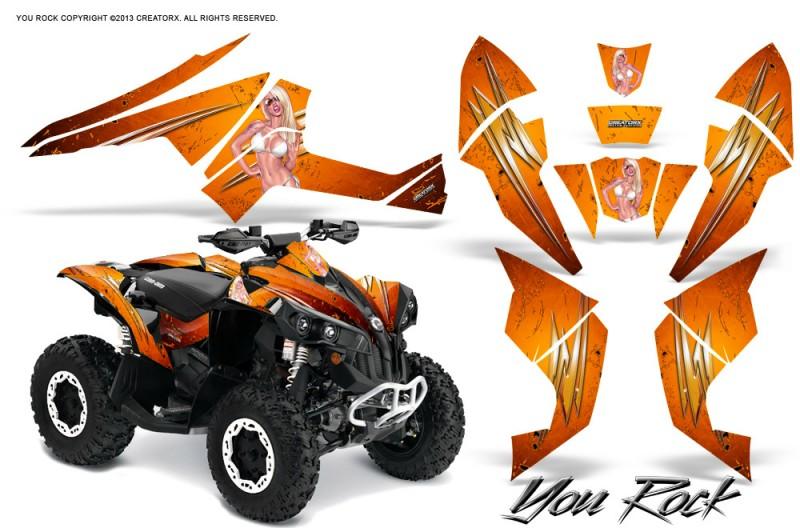 Can-Am-Renegade-800-CreatorX-Graphics-Kit-You-Rock-Orange