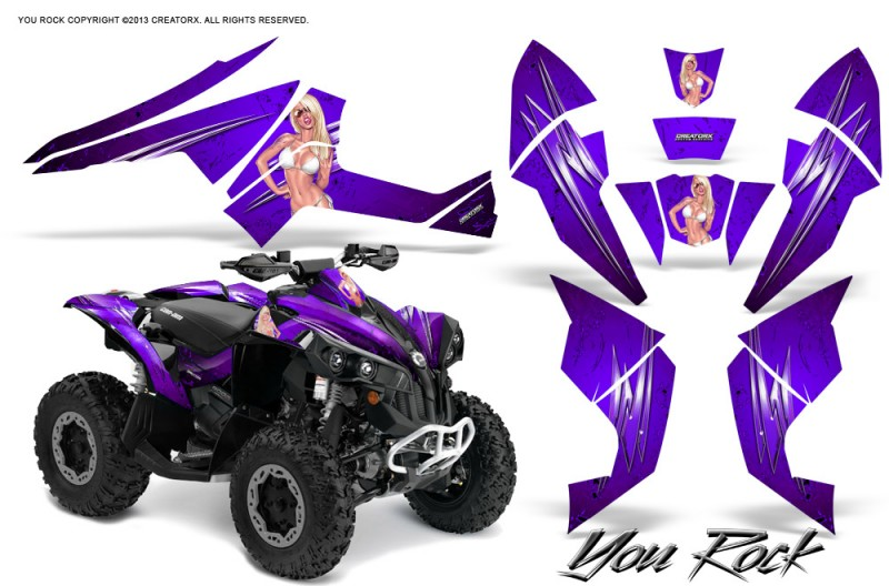 Can-Am-Renegade-800-CreatorX-Graphics-Kit-You-Rock-Purple