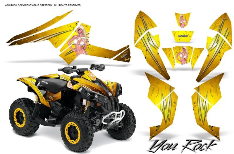Can-Am-Renegade-800-CreatorX-Graphics-Kit-You-Rock-Yellow