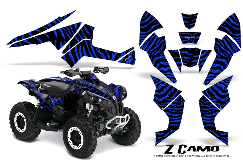 Can-Am-Renegade-800-CreatorX-Graphics-Kit-ZCamo-Blue