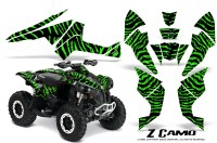 Can-Am-Renegade-800-CreatorX-Graphics-Kit-ZCamo-Green