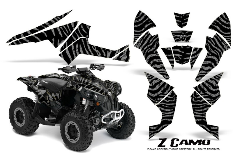 Can-Am-Renegade-800-CreatorX-Graphics-Kit-ZCamo-Silver