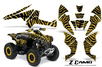 Can-Am-Renegade-800-CreatorX-Graphics-Kit-ZCamo-Yellow