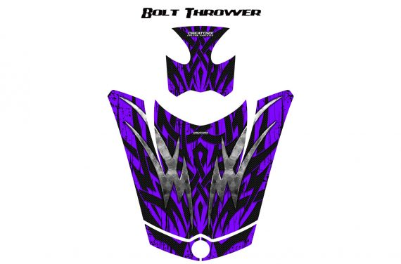 Can Am Spyder RS GS Hood Graphics Kit Bolt Thrower Purple 570x376 - Can-Am Spyder RS GS ST Hood and Rear Fender Graphics