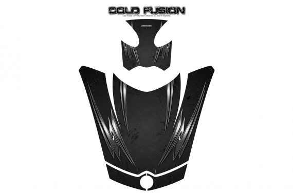 Can Am Spyder RS GS Hood Graphics Kit Cold Fusion Black 570x376 - Can-Am Spyder RS GS ST Hood and Rear Fender Graphics