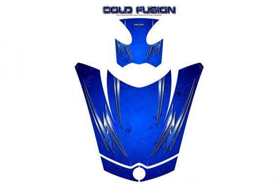 Can Am Spyder RS GS Hood Graphics Kit Cold Fusion Blue 570x376 - Can-Am Spyder RS GS ST Hood and Rear Fender Graphics
