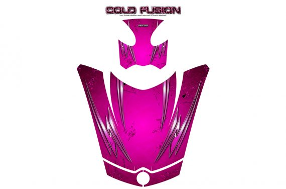 Can Am Spyder RS GS Hood Graphics Kit Cold Fusion Pink 570x376 - Can-Am Spyder RS GS ST Hood and Rear Fender Graphics