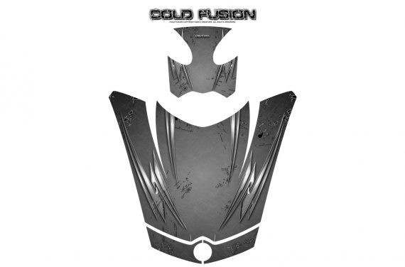 Can Am Spyder RS GS Hood Graphics Kit Cold Fusion Silver 570x376 - Can-Am Spyder RS GS ST Hood and Rear Fender Graphics