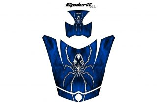Can Am Spyder RS GS Hood Graphics Kit SpiderX XL Blue1 320x211 - Can-Am Spyder RS GS ST Hood and Rear Fender Graphics