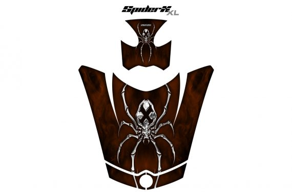 Can Am Spyder RS GS Hood Graphics Kit SpiderX XL Brown1 570x376 - Can-Am Spyder RS GS ST Hood and Rear Fender Graphics