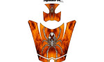 Can Am Spyder RS GS Hood Graphics Kit SpiderX XL Orange1 150x90 - Can-Am Spyder RS GS ST Hood and Rear Fender Graphics