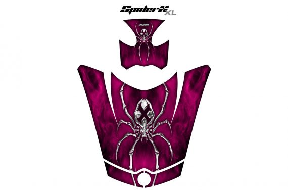 Can Am Spyder RS GS Hood Graphics Kit SpiderX XL Pink1 570x376 - Can-Am Spyder RS GS ST Hood and Rear Fender Graphics