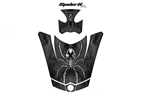 Can Am Spyder RS GS Hood Graphics Kit SpiderX XL Silver1 570x376 - Can-Am Spyder RS GS ST Hood and Rear Fender Graphics