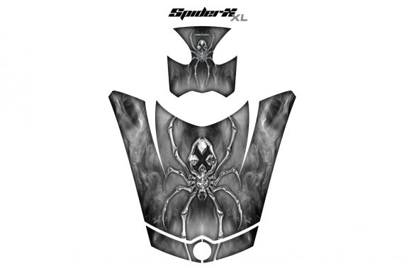 Can Am Spyder RS GS Hood Graphics Kit SpiderX XL White1 570x376 - Can-Am Spyder RS GS ST Hood and Rear Fender Graphics
