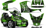 Can Am Spyder RT S Full Trim SpiderX Green 150x90 - Can-Am Spyder RTS 2010-2013 Graphics with Trim Kit
