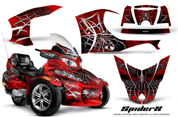 Can Am Spyder RT S Full Trim SpiderX Red 570x376 - Can-Am Spyder RTS 2010-2013 Graphics with Trim Kit