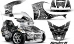 Can Am Spyder RT S Full Trim SpiderX White 150x90 - Can-Am Spyder RTS 2010-2013 Graphics with Trim Kit
