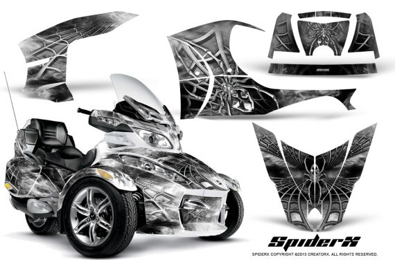 Can Am Spyder RT S Full Trim SpiderX White 570x376 - Can-Am Spyder RTS 2010-2013 Graphics with Trim Kit