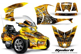 Can Am Spyder RT S Full Trim SpiderX Yellow 320x211 - Can-Am Spyder RTS 2010-2013 Graphics with Trim Kit