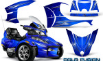 Can Am Spyder RT S Full Trim Cold Fusion Blue BB 150x90 - Can-Am Spyder RTS 2010-2013 Graphics with Trim Kit