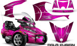 Can Am Spyder RT S Full Trim Cold Fusion Pink 150x90 - Can-Am Spyder RTS 2010-2013 Graphics with Trim Kit
