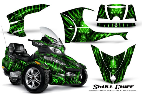 Can-Am_Spyder_RT-S_Full_Trim_Skull_Chief_Green