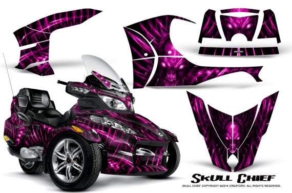 Can-Am_Spyder_RT-S_Full_Trim_Skull_Chief_Pink