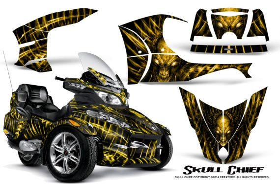 Can-Am_Spyder_RT-S_Full_Trim_Skull_Chief_Yellow