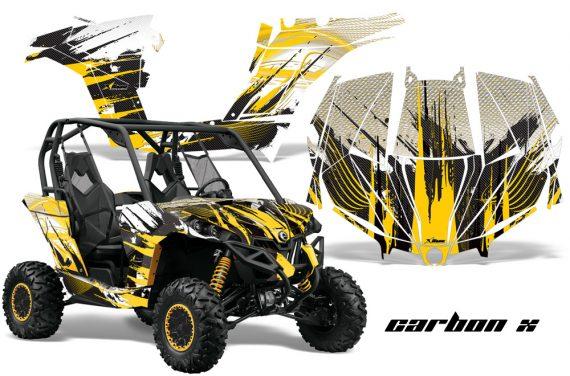 Can am Canam Maverick AMR Graphics Kit Wrap CarbonX Y 570x376 - Can-Am BRP Maverick 1000 X rs 1000r 2013-2015 Graphics