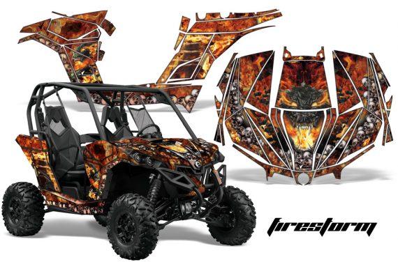 Can am Canam Maverick AMR Graphics Kit Wrap Firestorm K 570x376 - Can-Am BRP Maverick 1000 X rs 1000r 2013-2015 Graphics
