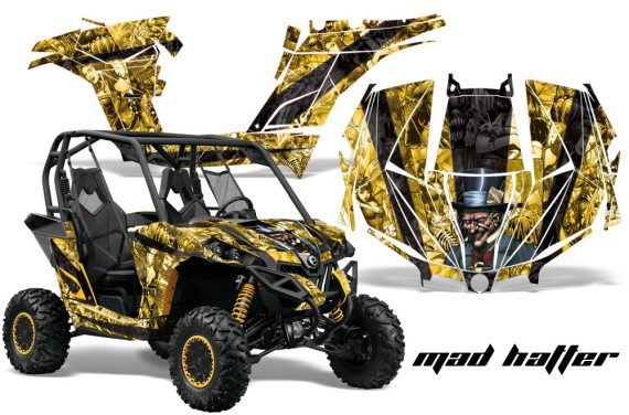Can am Canam Maverick AMR Graphics Kit Wrap MadHatter KY 570x376 - Can-Am BRP Maverick 1000 X rs 1000r 2013-2015 Graphics
