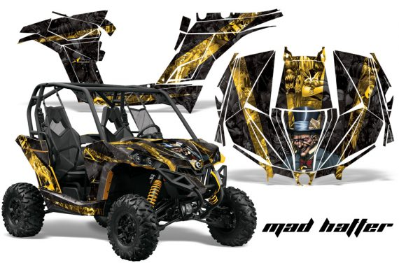 Can am Canam Maverick AMR Graphics Kit Wrap MadHatter YK 570x376 - Can-Am BRP Maverick 1000 X rs 1000r 2013-2015 Graphics