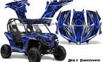 Can am Maverick CreatorX Graphics Kit Bolt Thrower Blue 150x90 - Can-Am BRP Maverick 1000 X rs 1000r 2013-2015 Graphics