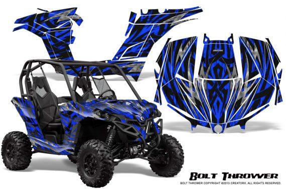 Can am Maverick CreatorX Graphics Kit Bolt Thrower Blue 570x376 - Can-Am BRP Maverick 1000 X rs 1000r 2013-2015 Graphics