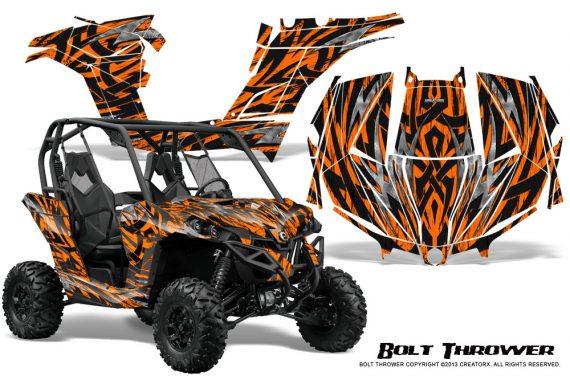 Can am Maverick CreatorX Graphics Kit Bolt Thrower Orange 570x376 - Can-Am BRP Maverick 1000 X rs 1000r 2013-2015 Graphics