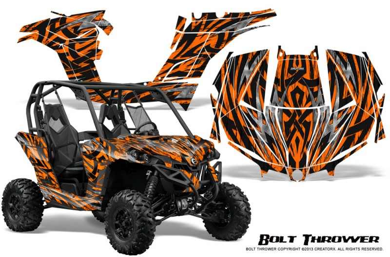 Can-am-Maverick-CreatorX-Graphics-Kit-Bolt-Thrower-Orange