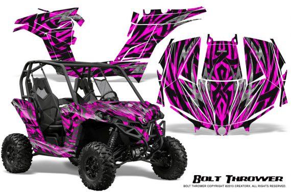 Can am Maverick CreatorX Graphics Kit Bolt Thrower Pink 570x376 - Can-Am BRP Maverick 1000 X rs 1000r 2013-2015 Graphics