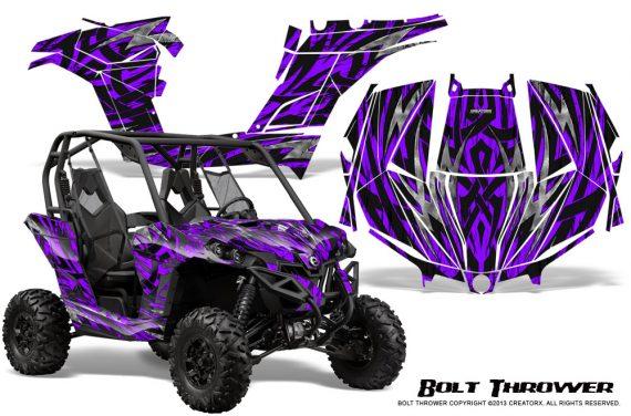 Can am Maverick CreatorX Graphics Kit Bolt Thrower Purple 570x376 - Can-Am BRP Maverick 1000 X rs 1000r 2013-2015 Graphics