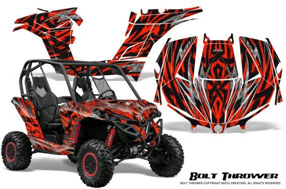 Can am Maverick CreatorX Graphics Kit Bolt Thrower Red 570x376 - Can-Am BRP Maverick 1000 X rs 1000r 2013-2015 Graphics
