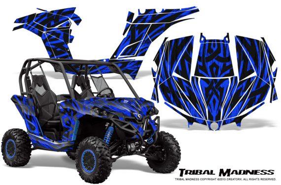 Can am Maverick CreatorX Graphics Kit Tribal Madness Blue 570x376 - Can-Am BRP Maverick 1000 X rs 1000r 2013-2015 Graphics
